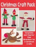 Christmas Craft Pack: Santa, Elves, and Reindeer - 3 Craft Bundle