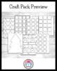 Christmas Craft Pack: Santa, Presents, Moose, Gingerbread, Snow Globe, Tree