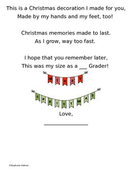 Christmas Craft Poem