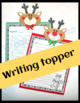 Christmas Craft - Reindeer Treat Bags & Writing Toppers