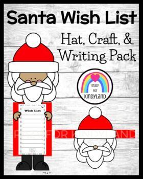 Christmas Craft: Santa and Wish List, Santa Hat