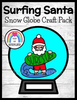 Christmas Craft: Surfing Santa Snow Globe