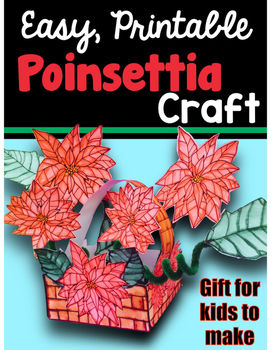 Christmas Craft and Gift - Poinsettia Basket