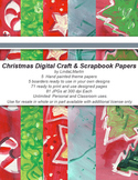 Christmas Craft and Scrapbook Digital Pages Folk Shabby Traditional