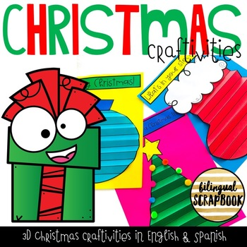 Christmas Craftivities in English and Spanish