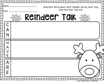 Reindeer Craft Pack { reindeer craft and writing printables }