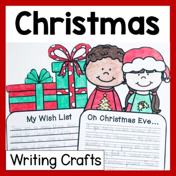 Christmas Craftivity (3 No Prep Writing Prompts & Crafts)