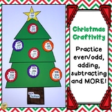Christmas Craftivity Math - Adding, Subtracting, Even/Odd, Regrouping, and MORE!