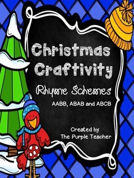 Christmas Craftivity - Rhyme Schemes