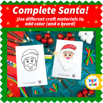 Christmas Craftivity: Santa Craft, Snowman Craft and Reindeer Craft Art Projects