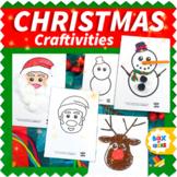 Christmas Craftivity: Santa Craft, Snowman Craft and Reind