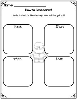 Christmas Craftivity- Santa is Stuck