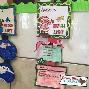 Christmas Craftivity- Wants and Needs- Holiday Bulletin Board