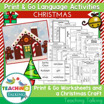 Speech Therapy Christmas Craftivity