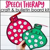 Speech Therapy Christmas Craft