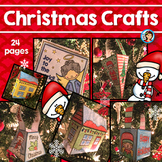 Christmas Crafts Boxes, 3D Houses, and Cards Easy No Prep