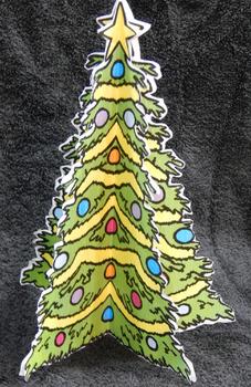 Christmas Crafts & Art Activities: 3D Christmas Tree Craft Activity Bundle