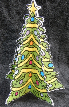 Christmas Activities: 3D Christmas Tree Christmas Craft Activity - Color Version