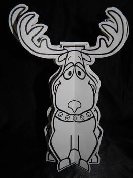 Christmas Crafts & Art Activities: 3D Reindeer Craft Activity