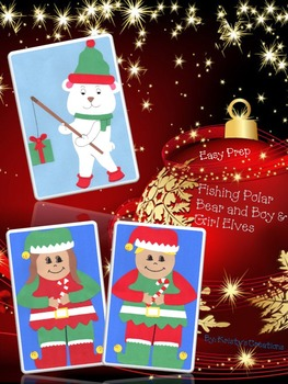 Christmas Crafts Easy Prep: Fishing Polar Bear & Boy and G