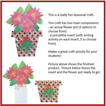 Christmas Crafts - Flower Pot of Poinsettias