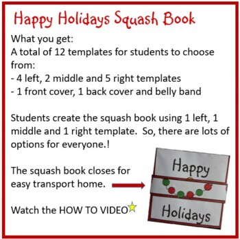 Christmas Crafts - Happy Holidays Squash Book