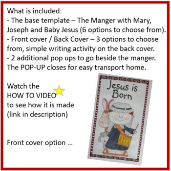 Christmas Crafts - Jesus is Born POP-UP Manger Scene