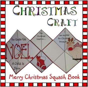 Christmas Crafts - Merry Christmas Squash Book
