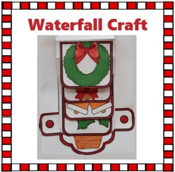 Christmas Crafts - Merry Christmas Waterfall Craftivity
