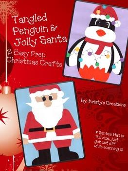 Christmas Crafts: Santa & Tangled Penguin