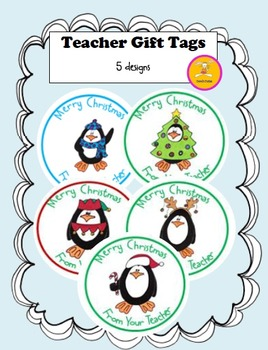 Christmas Crafts Teacher Gift Tags