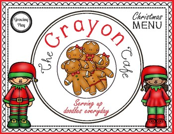 Christmas Crayon Cafe - Pretend Play + Drawing!