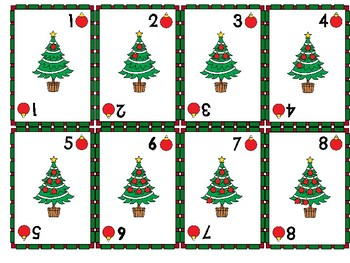 Christmas Crazy Eights/Uno Card Game