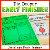 Early Finisher Christmas Word of the Day
