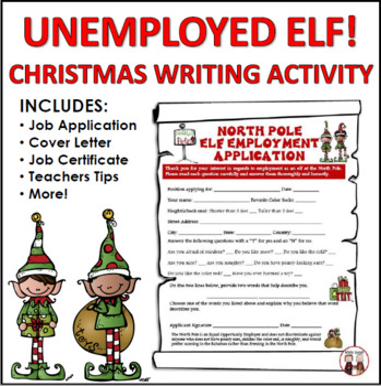 Christmas Writing Activities Unemployed Elf