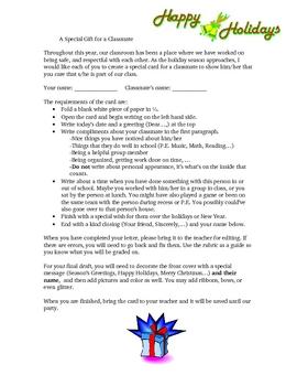 Christmas Creative Writing Gift Idea