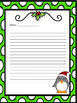 Christmas Creative Writing Paper- 2 styles, 2 line types!