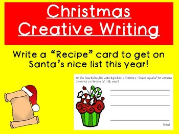 "Christmas Creative Writing: Writing Recipes for ""Sweet Cupcakes"""