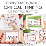 Christmas Critical Thinking Bundle | DIGITAL AND PRINT