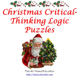 Christmas Critical-Thinking Logic Puzzles with Instructions and Answer Key
