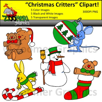 Christmas Critters Clipart