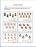 Christmas Cross Out Subtraction Worksheets