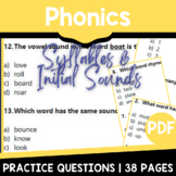 Phonics Worksheets | Syllables & Initial Sounds | Distance