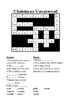 Christmas Crossword BUNDLE