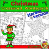 Christmas Crossword, Christmas Word Search + Christmas Puz