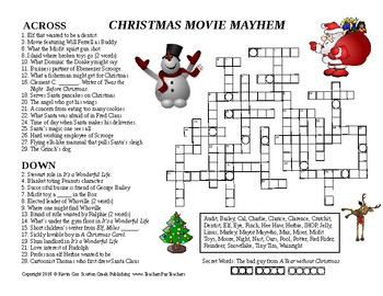 Christmas Crossword Movie Mayhem