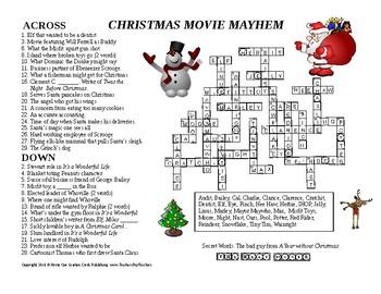 Christmas Crossword Movie Mayhem