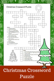 Christmas Crossword Puzzle (6th - 12th Grades)