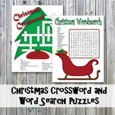 Christmas Crossword Puzzle and Word Search