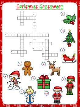 Christmas Crossword Worksheet | Free/Freebie